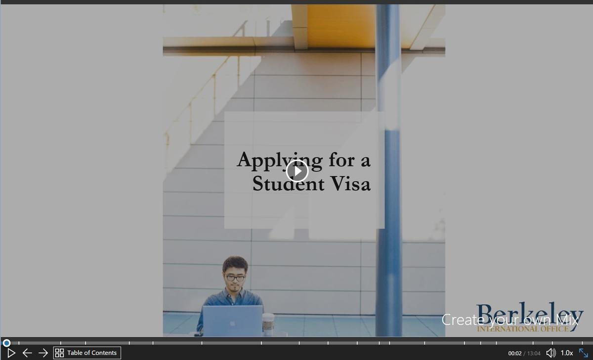 Applying for a Student Visa Powerpoint video screenshot