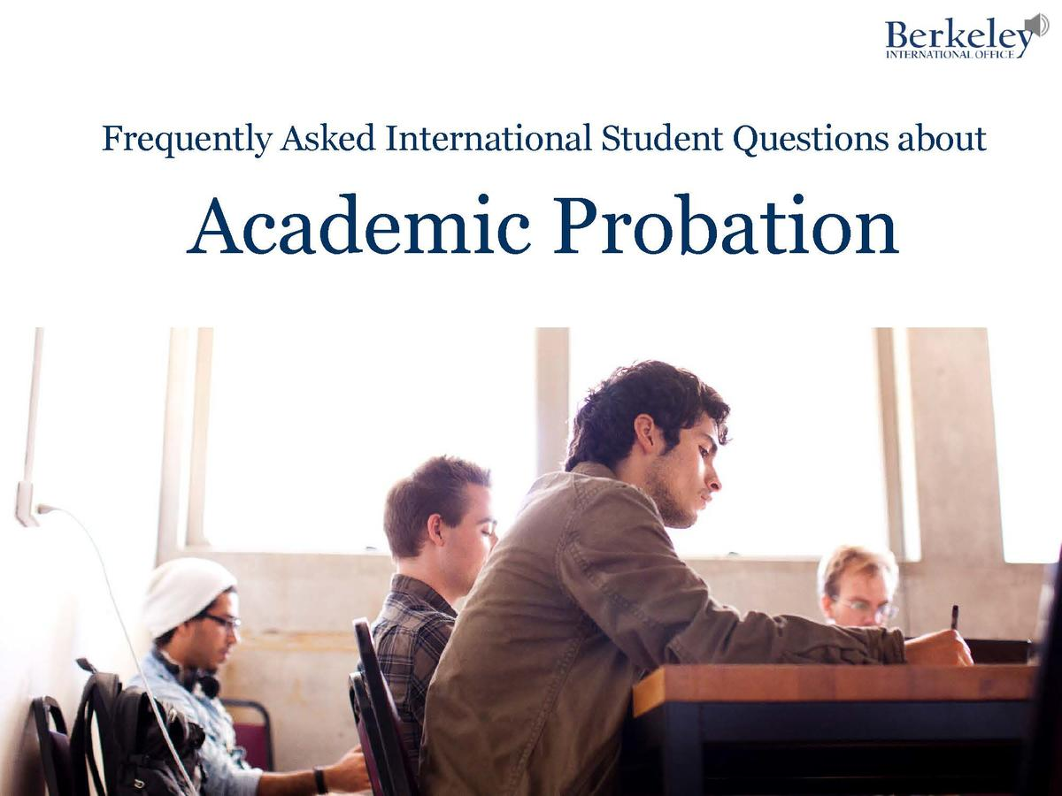 Academic Probation Frequently Asked Questions Video screencap