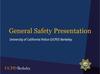 General Safety presentation slide