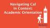 Navigating Cal presentation slide