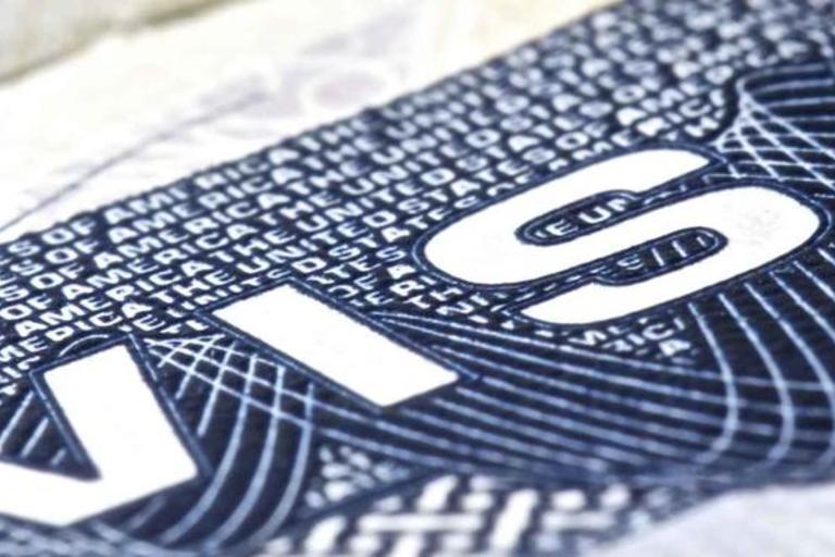 closeup visa detail