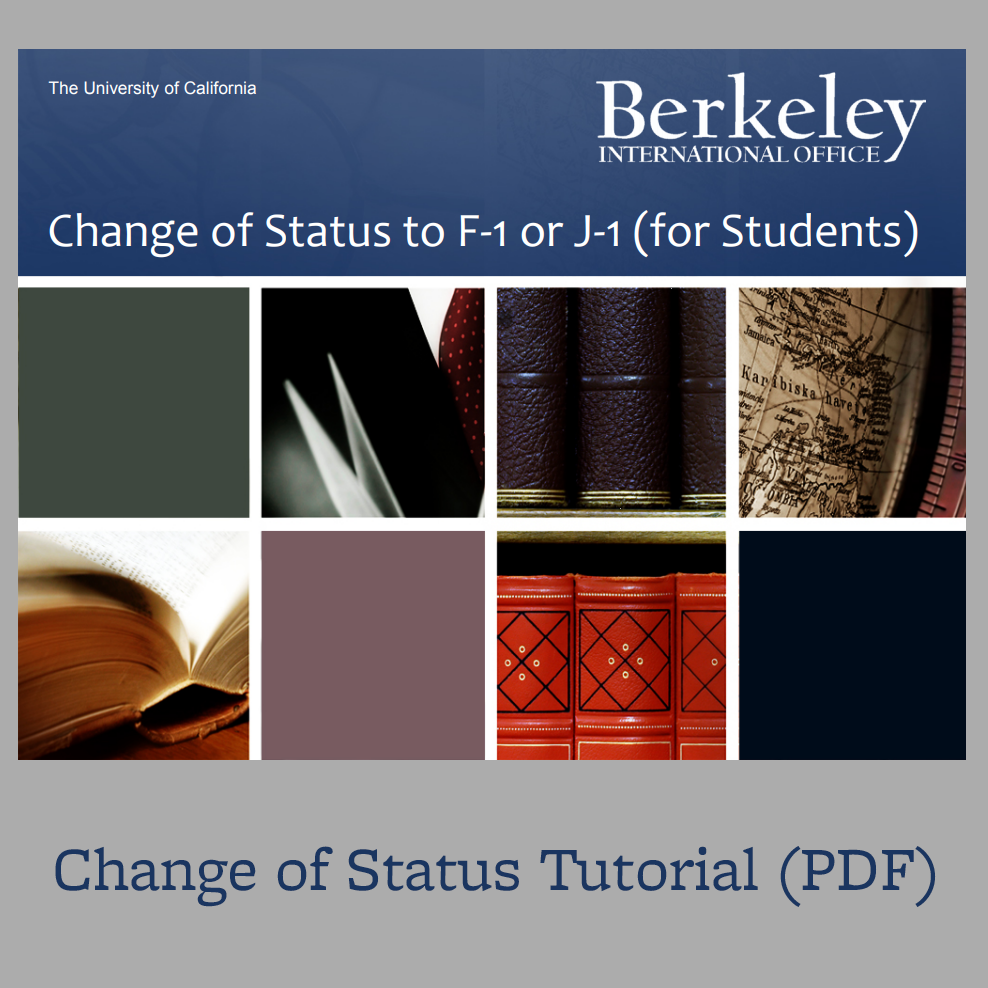 Change of Status tutorial cover