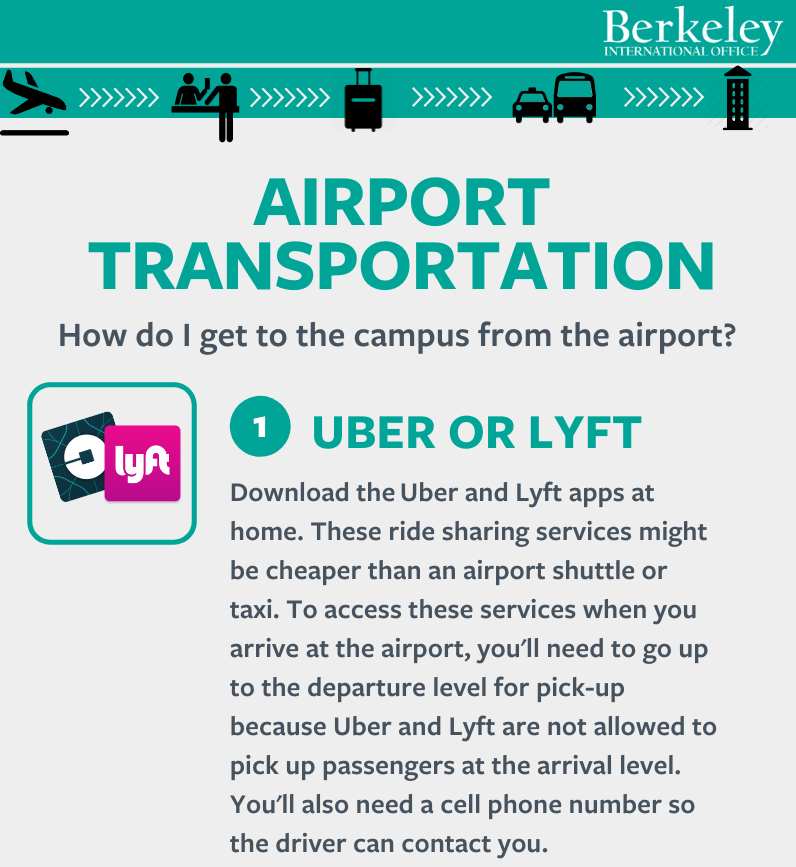 Airport transportation infographic