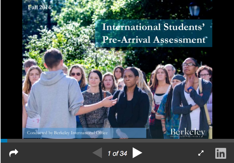 International Students' Pre-Arrival Assessment