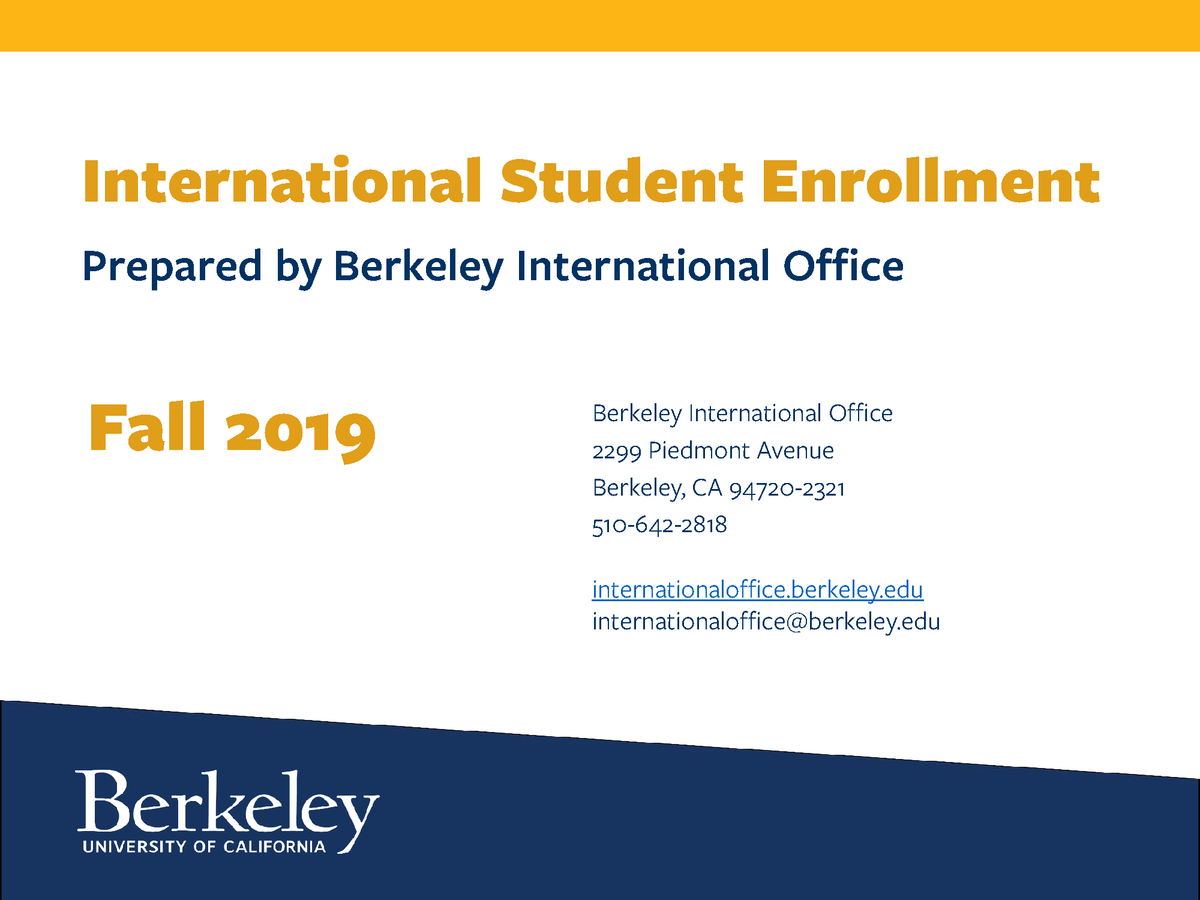 International Student Enrollment report 2019