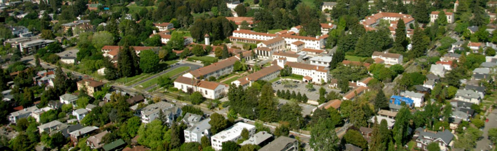 Clark Kerr Campus aerial shot