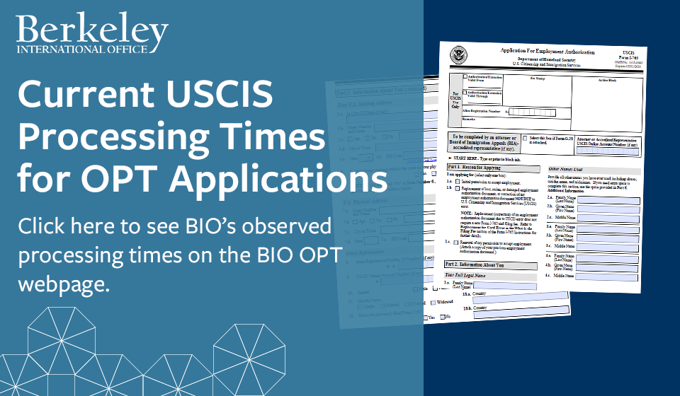 Current USCIS Processing Times for OPT Applications