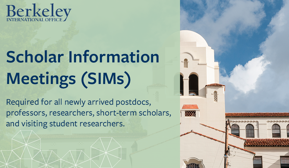 Scholar Information Meetings (SIMs)