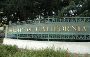 University of California sign
